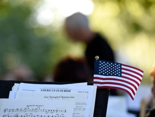 The Lebanon Community Concert Band performed patriotic