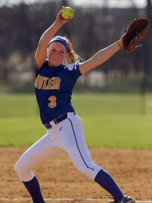 Butler pitcher Larissa Spellman  is 15-2 with 11 shutouts and has 249 strikeouts in 139 innings this season and 1,043 for her career. She starts tonight against Chatham in the MCT final in Roxbury.