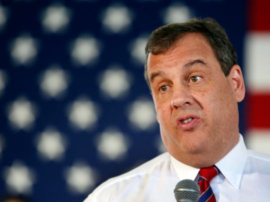 Republican New Jersey Gov. Chris Christie takes a questions