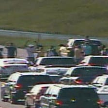 Brown supporters block traffic on I-270