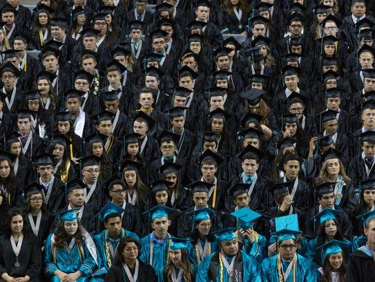 The Oñate High School Class of 2017, waiting to begin