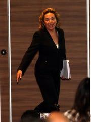 Elba Esther Gordillo se presentó ante los medios.