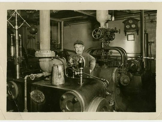 Boiler operator Christ Klein at the Cold Spring Brewing
