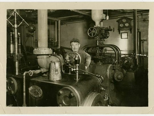 Boiler operator Christ Klein at the Cold Spring Brewing Co. in 1939. The brewery has operated continuously since 1874.