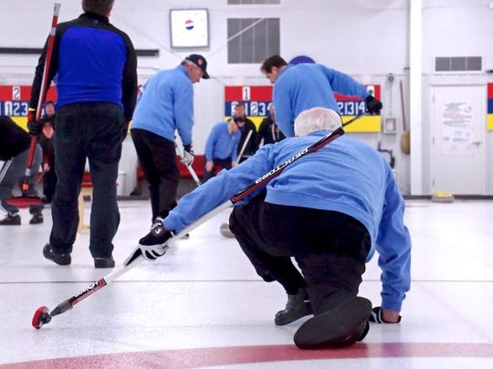 "Considered a game of strategy, each team has a ""skip"" or captain who calls the shots and two sweepers who use brooms to sweep the ice and control the speed and rotation of the stone."