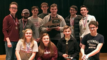 Back-to-back: Henderson County High School defends region academic team title