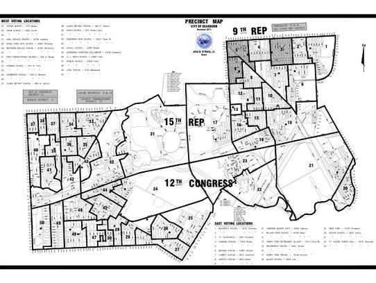 Map of election precincts in Dearborn. Bernie Sanders
