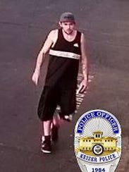 A thief is at large after robbing a Keizer bowling