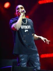 Nelly performs on stage during a male-only concert