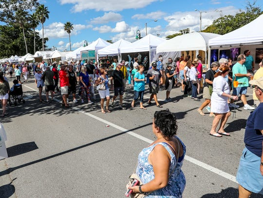 Art lovers shop and look around at the Cape Coral Arts & Music Festival. Formerly called the Cape Coral Festival of the Arts, the annual fest adds a live music component this year.