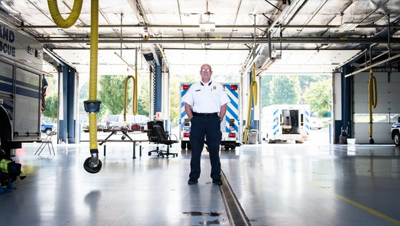 Lee Benfield, a full-time EMS director at Skyland Fire