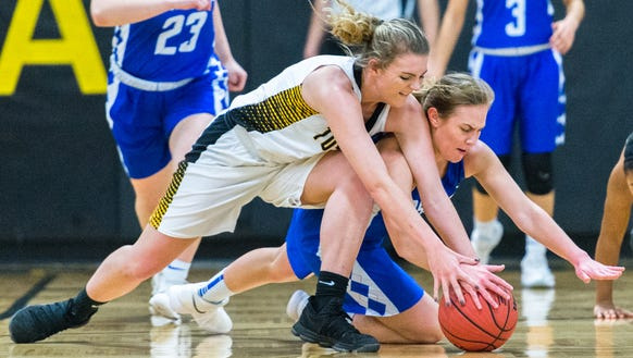 The Tuscola girls basketball team played Asheboro in