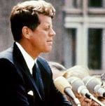 President John F. Kennedy just prior to his assassination.