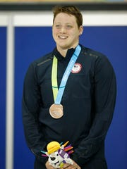 G Ryan, shown here competing for the U.S. women's swimming