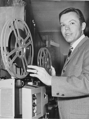 An undated photo of Dick Goddard, the longtime WJW weather forecaster, early in his career.