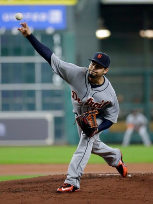 Anibal Sanchez throws against the Astros during the first inning.
