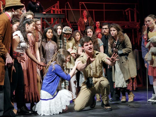 """Briarcliff High School staged """"Urinetown: The Musical"""" in 2015. This year, the musical -- a valentine to the form, set in a world where people must pay to pee -- will be performed at Lakeland (April 21, 22) and Clarkstown North (March 13-14, 20-21)."""