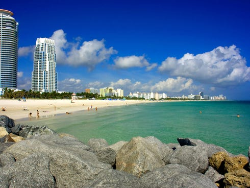 Florida's ultimate metro party beach, South Beach constitutes the lower end of Miami Beach.