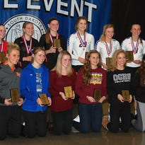 Taylor Thorson, Hanna Jellema and Becca Koehn were selected to the AA State All-Tournament team.