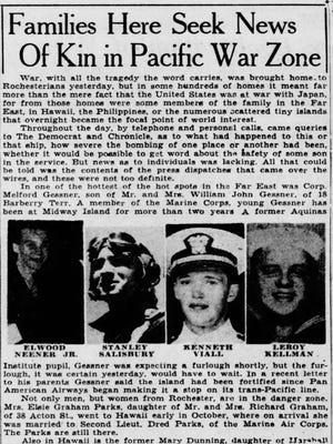 Democrat & Chronicle article from December 9, 1941
