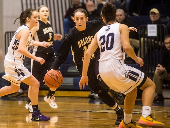 Delone Catholic's Ally Shipley takes control of the
