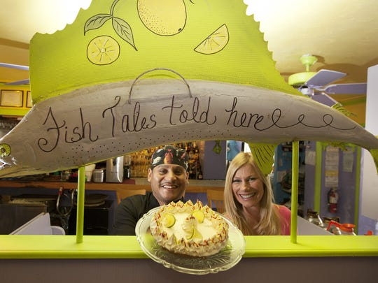 Keylime Bistro on Captiva, owned by Sandy Stilwell, right, is renowned for its Key lime pie.