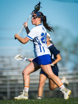 Stephen Decatur attack Victoria Kerkovich (20) takes a shot against Kent Island in the MPSSAA 3A/2A East Region Section II Finals on Monday, May 16 at Seahawk Stadium in Berlin.