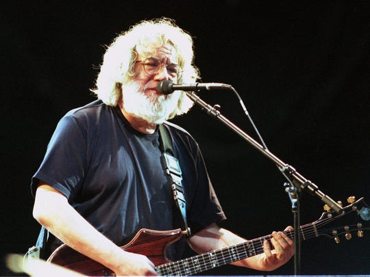 Jerry Garcia of The Grateful Dead at Giants Stadium in East Rutherford on June 18, 1995.