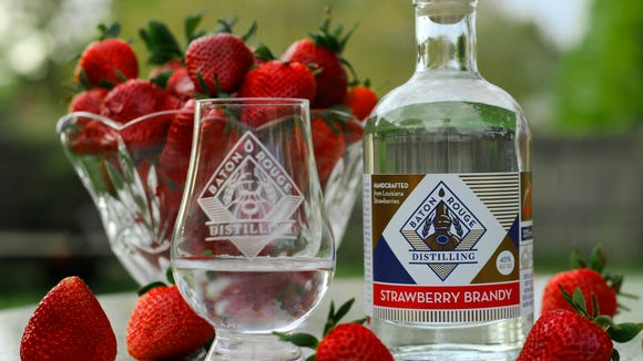 Baton Rouge Distilling recently introduced its first spirit, strawberry brandy, in area grocery stores