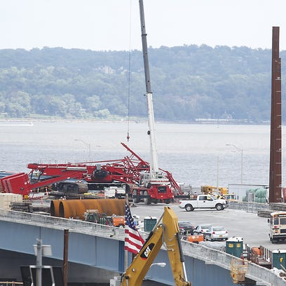 Eddie and June Pecoroni said their pickup truck was hit by a crane when it collapsed onto the Tappan Zee Bridge on July 19, 2016.