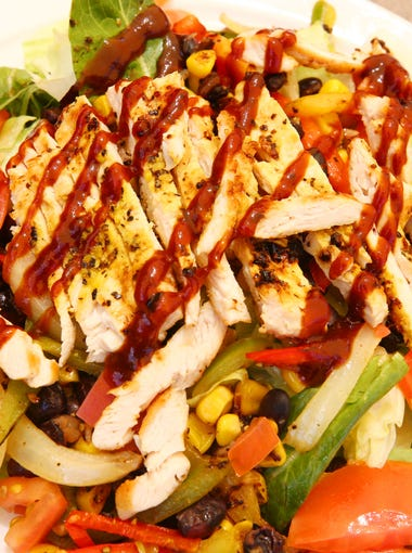Barbecue chicken salad from the open-to-the-public restaurant at Sante of Surprise on May 7, 2018 in Surprise, Ariz. Sante of Surprise is a short-term rehab facility for elderly patients.