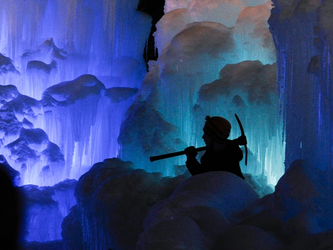 "A private company has opened Ice Castles in three cities this winter: Breckenridge, Colo.; Lincoln, N.H.; and Midway, Utah. Built one icicle at a time, Ice Castles start by ""growing"" more than 5,000 icicles each day that are harvested and sculpted together."