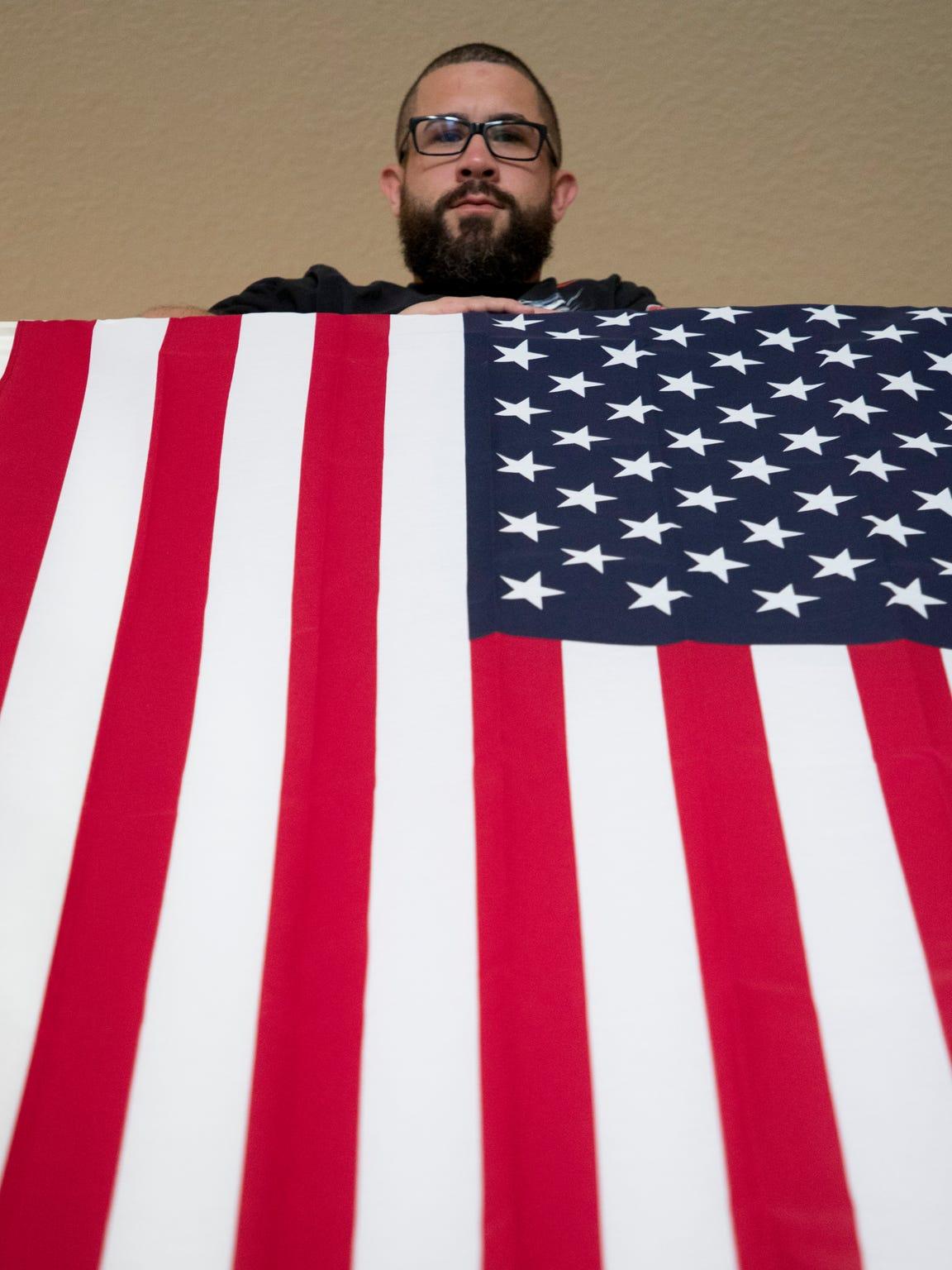 John McLellan, 30,an Afghanistan and Iraq War veteran,