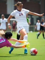 Florida State freshman forward Madisyn Pezzino recorded