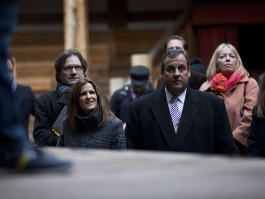 New Jersey Gov. Chris Christie and his wife Mary Pat