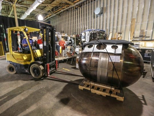 Apollo fuel tank arrives at the Rolls Royce Heritage