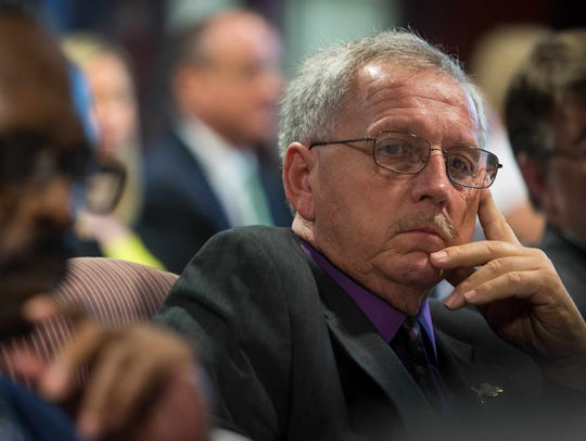 New Castle County Councilman George Smiley at the New Castle County Council Executive Committee in September 2015.