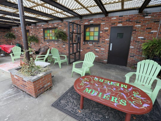 An outdoor tasting area is available on the property,