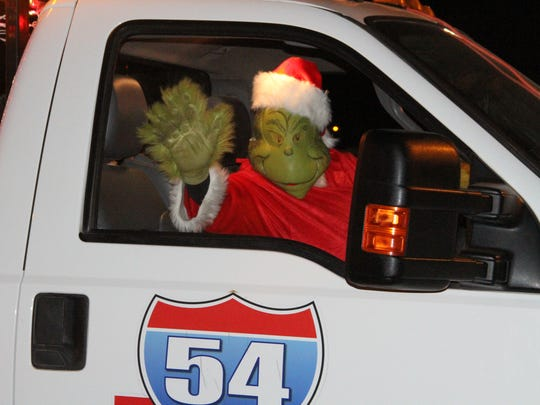 The Grinch was also spreading the Christmas spirit at Saturday's parade.