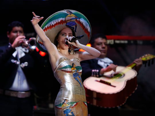 Mexican singer Belinda performs Wednesday during the