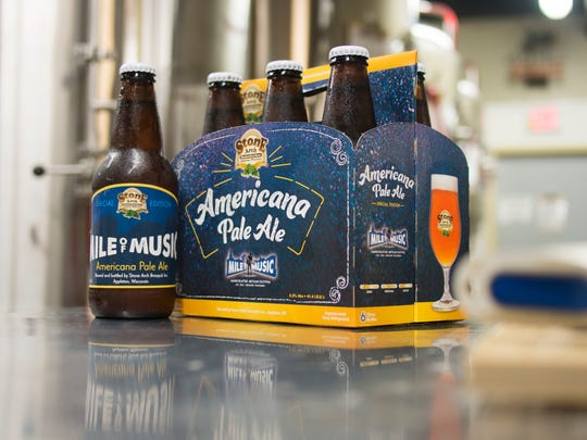 Mile of Music Americana Pale Ale is available by six-pack
