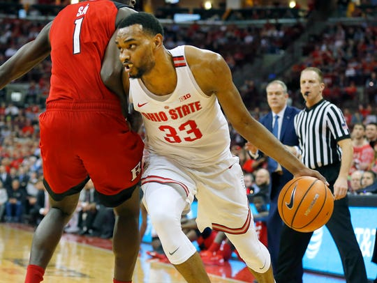 Feb. 20: Ohio State forward Keita Bates-Diop tries