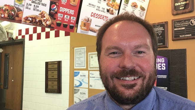 Chad Birger loves Taco John's, and the restaurant chain loves him back. Birger frequently tweets about his love for the chain and its tacos, seeking to promote positive business experiences on social media.