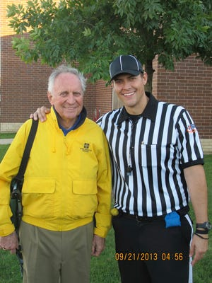 John Keck's grandson John Pugh has followed Keck's path and taken up a career in officiating.