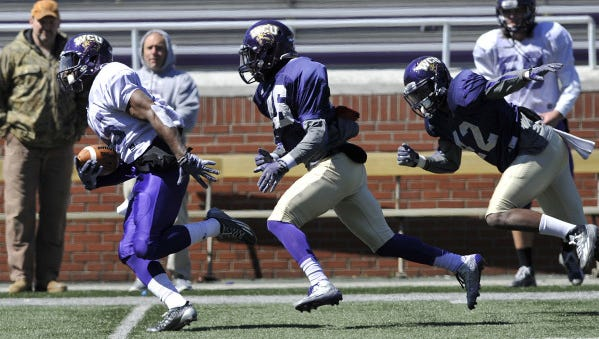 The Western Carolina University football team held its first spring scrimmage on Saturday in Cullowhee.