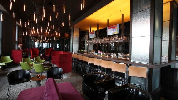 The lounge and bar area at the 8UP restaurant. Apr. 16, 2015