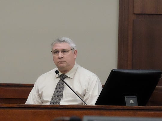 Jeffrey Howenstine testifies as a witness during Amber