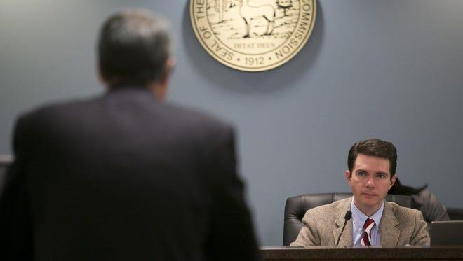 A watchdog group wants information about utility regulator Bob Stump's text messages.