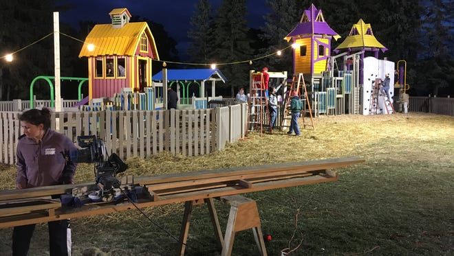 A look at the playground construction at Montgomery Park.