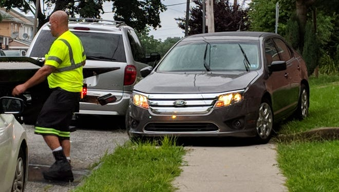 At least one car was damaged in an incident in York City late Monday afternoon.